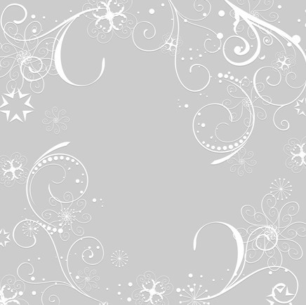 Simple White Flourish Floral Patterns Background Vector