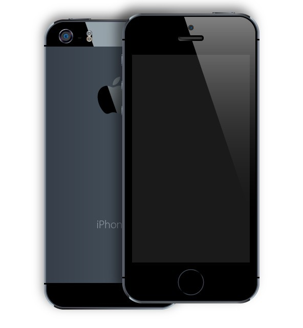 Free Black iPhone 5S Mockup PSD (Front and Back) - TitanUI