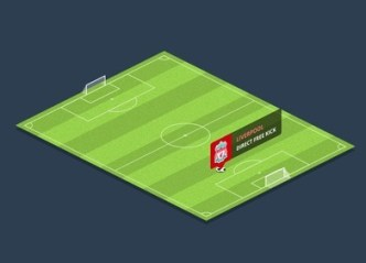 Simple Football Pitch PSD