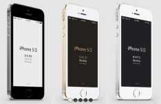 Three-Quarter Perspective iPhone 5S PSD Mockup