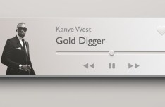 Mini Music Player Widget PSD