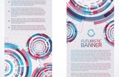 Set Of Vector Futuristic Banners 01