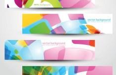 Colored Bright Web Banner & Header Designs Vector 02