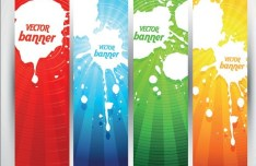 Colored Bright Web Banner & Header Designs Vector 03