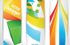 Colored Bright Web Banner & Header Designs Vector 04