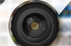 Realistic Camera Zoom Lens PSD