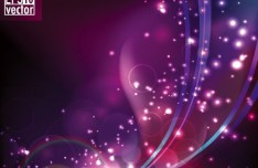 Sparkling Abstract Lights and Halos Background Vector 01