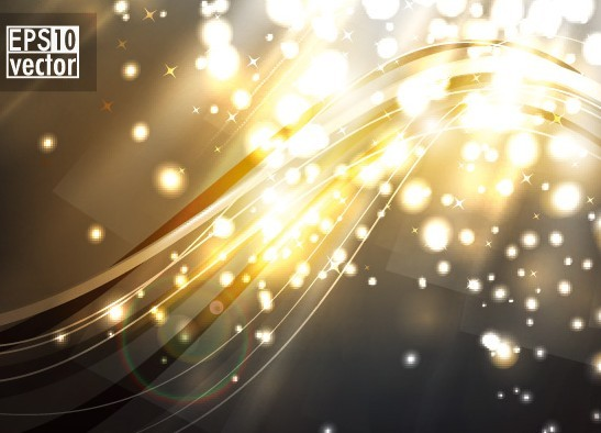 Sparkling Abstract Lights and Halos Background Vector 03