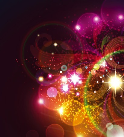 Sparkling Abstract Lights and Halos Background Vector 04