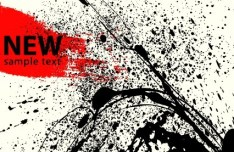 Black Splashed Ink Grunge Background Vector 02