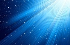 Blue Technology Background with Stars and Sunlight