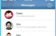 Flat Facebook Messenger For iOS 7 PSD