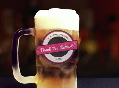 Draft Beer Logo Mockup PSD