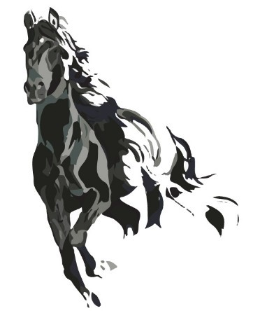 free ink painting galloping horse vector 01 titanui. Black Bedroom Furniture Sets. Home Design Ideas