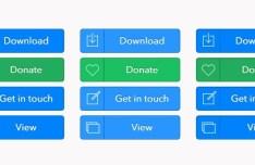 Blue and Green Flat Web Button Set PSD