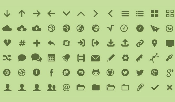 MFG Labs Web Icon Set
