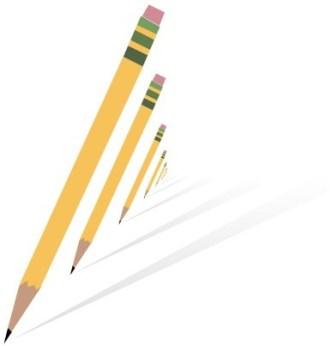 Flat Vector Pencil Shapes