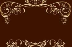 Gold Royal Floral Frame Vector 02