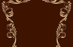 Gold Royal Floral Frame Vector 04