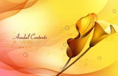Yellow Music Zantedeschia Aethiopica Background Vector