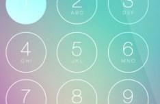 iOS7 Passcode Screen PSD