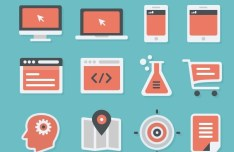 Flat E-Commerce Icons PSD