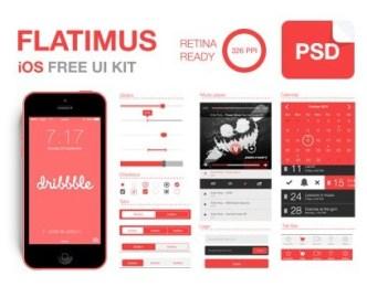 Flatimus iOS UI Kit PSD