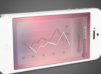 Thermograph App UI For Mobile Phone PSD