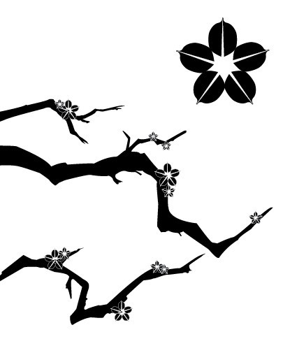 Plum Tree Silhouette Vector