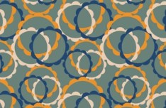 Seamless Vintage Circle Pattern Design Vector