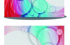 Elegant Business Card with Abstract Circles and Lines Background Vector
