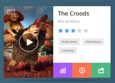 Mini Movie Widget PSD