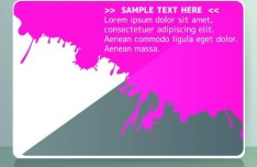 Set Of Colored Card with Abstract Shapes Background Vector 01