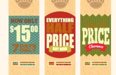 Set Of Vintage Big Sale Price Tags Vector 05