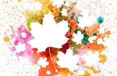 Colorful Paint Splash Vector Background 01