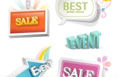 Lovely Retail Sale Labels & Stickers Vector 02