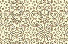 Seamless Floral Ornamental Pattern Vector 01