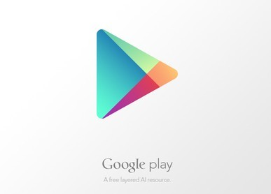 Google Play Icon Vector