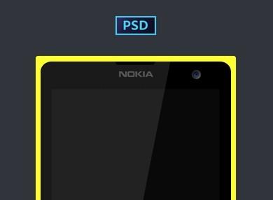 Minimal Nokia Lumia 1020 PSD Mockup