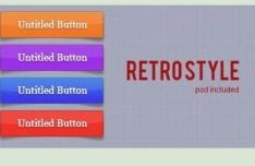 Minimal Retro Style Web Button Templates PSD
