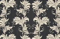 Dark Royal Vintage Floral Border Vector
