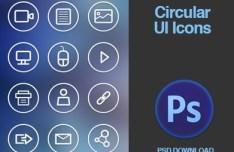 Circular Line Web Icons PSD