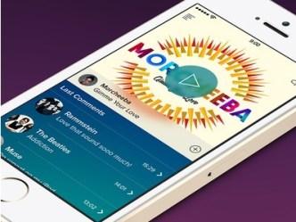 Creative Music App Screen In iOS 7 PSD