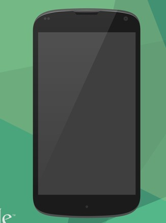 Flat Google Nexus 4 PSD Mockup