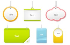 Set Of Clean Hanging Boards & Tags Vector