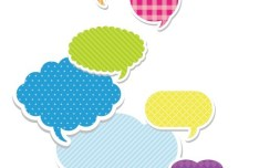 Set Of Colored Creative Speech Bubbles Vector 04