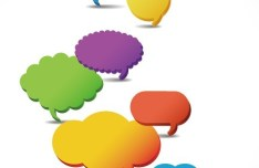 Set Of Colored Creative Speech Bubbles Vector 05