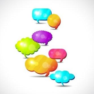 Set Of Colored Creative Speech Bubbles Vector 06