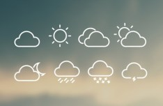 8 Vector Shaped Weather Icons