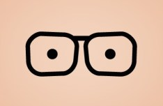 Black Funny Glasses PSD
